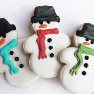 snowman suger cookie-thepiecederesistance