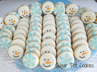 sugar cookies snowman snowflake decorated royal icing